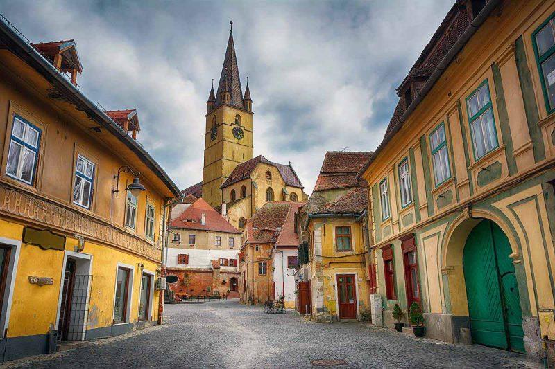 Streets from Sibiu, Romania