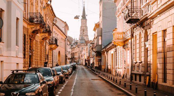Strada din Cluj Napoca - centru